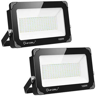 Onforu 2 Pack 100W LED Flood Light