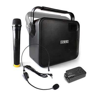 Wireless PA System with Wireless and Mic & Headset