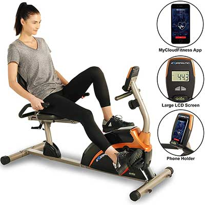 EXERPEUTIC 900XL 300LBS Recumbent Exercise Bike