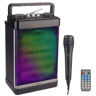 RHM Portable Karaoke Machine with Microphone