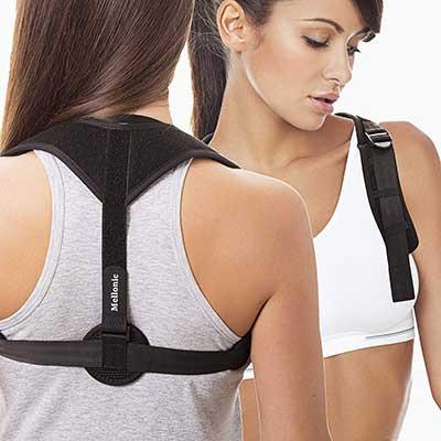Back Brace Posture Corrector for Men Women by Mellonic
