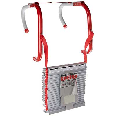 Kidde Three-Story Fire Escape Ladder with Anti-Slip Rungs