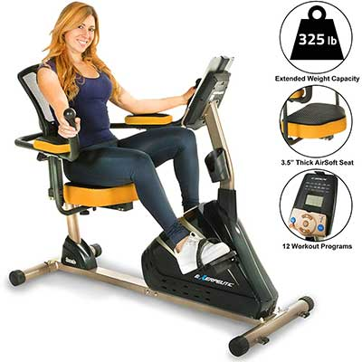 Exerpeutic 4000 Magnetic Recumbent Exercise Bike
