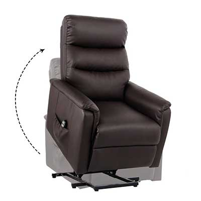 Unionline PU Leather Power Lift Chairs Recliner