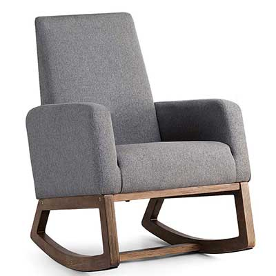 Giantex Upholstered Rocking Chair