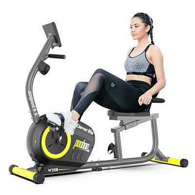 Pooboo Magnetic Recumbent Bike Indoor Cycling