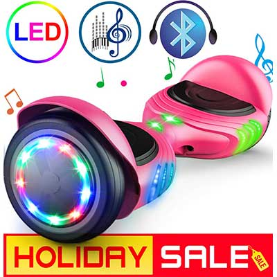 TOMOLOO Hoverboard with LED lights, Two-Wheel