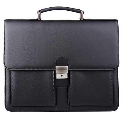 Jack&Chris PU Leather Briefcase Messenger Bag