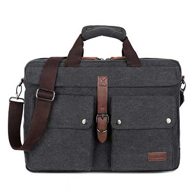 BAOSHA BC-07 17'' Canvas Laptop Messenger Bag