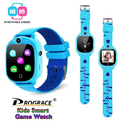 PROGRACE Kids Smartwatch with 90-degree Rotatable Camera