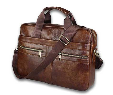 BRA1NST0RM Genuine Leather Messenger Bag