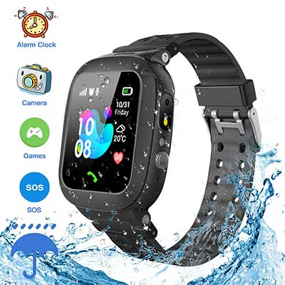 Jsbaby Kids Smartwatch Waterproof GPS/LBS Tracker Phone Compatible