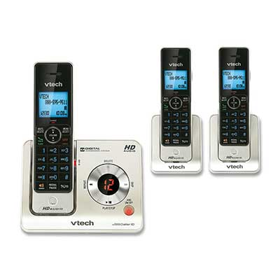 VTech LS425-3 DECT 6.0 Expandable Cordless Phone with Answering System