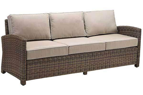 Crosley Furniture Set Bradenton Outdoor Wicker Patio Sofa