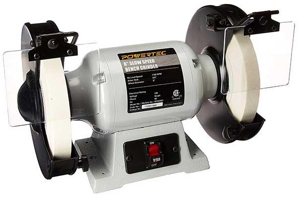 POWERTEC BGSS801 Slow Speed Bench Grinder