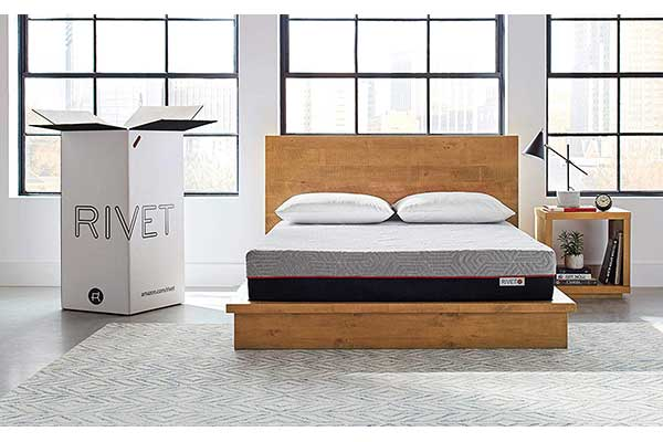 Rivet Queen Mattress Celliant Cover, Responsive 3-Layer