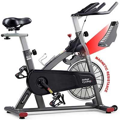 MEVEM Indoor Cycling Bike-Belt Drive Indoor Magnetic Exercise Bike