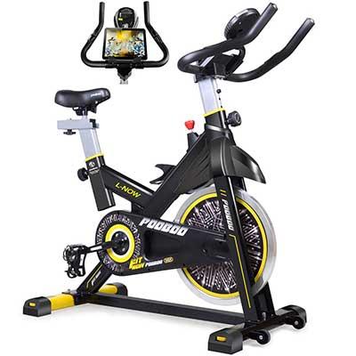 Pooboo Cycling Bike, Belt Drive Indoor Exercise Bike