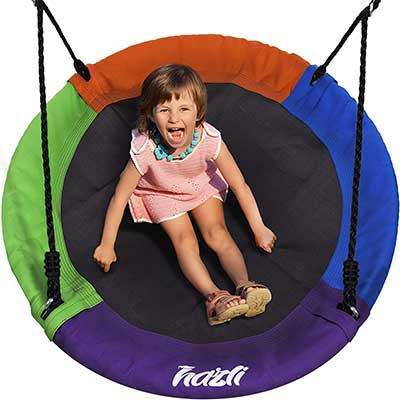 Outdoor Round Tree Swing for Kids
