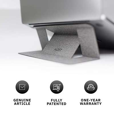 2. MOFT Laptop Stand, Invisible Lightweight Computer Stand
