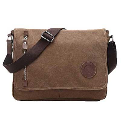 Egoelife Unisex Casual Canvas Satchel Messenger Bag