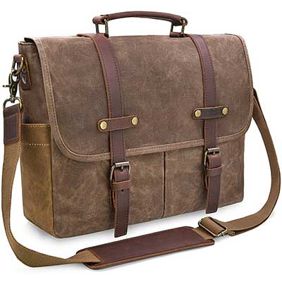 Men's Messenger Bag 15.6 Inch Waterproof Vintage