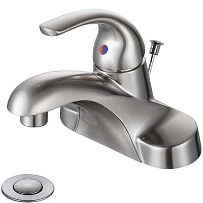 WOWOW Bathroom Faucet 1 Handle Low Arc