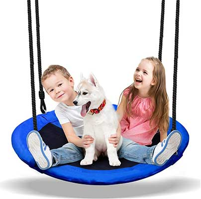 PACEARTH 40-Inch Saucer Tree Swing