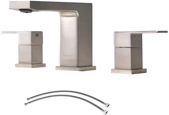 VCCUCINE Best Commercial 3 Holes Two Handles Lavatory Vanity Sink Faucet