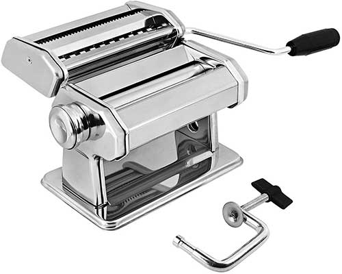 GOURMEX Stainless Steel Manual Pasta Maker Machine