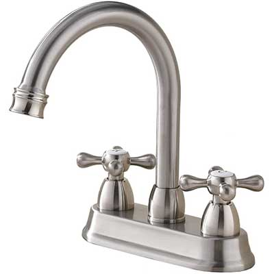 SHACO Best Commercial Brushed Nickel 2 Handle Faucet