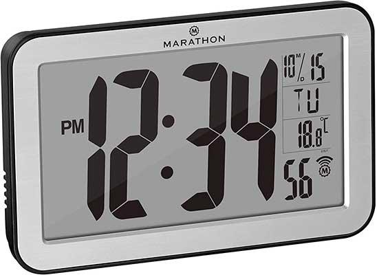 Marathon Commercial Grade Panoramic Autoset Atomic Digital Wall Clock