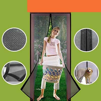 Homearda Magnetic Screen Door Fiberglass