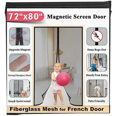 """72"""" x 80 Fiberglass Magnetic Screen Door"""