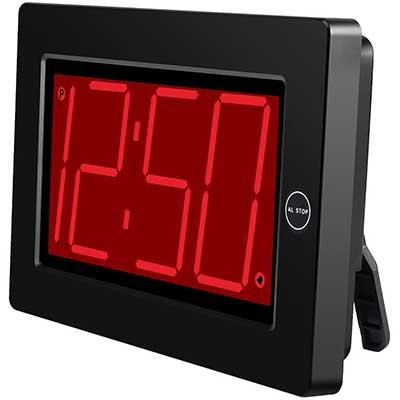 "KWANWA Digital LED Wall Clock with 3"" Large Display"