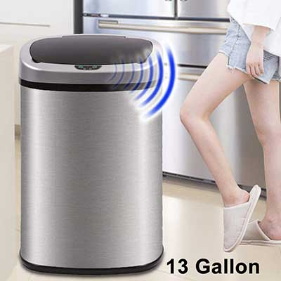 Dkeli Trash Can for Bathroom Bedroom Home Office