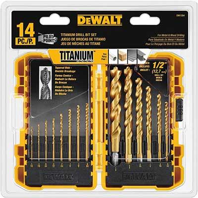 DEWALT Drill Bit Set, Titanium