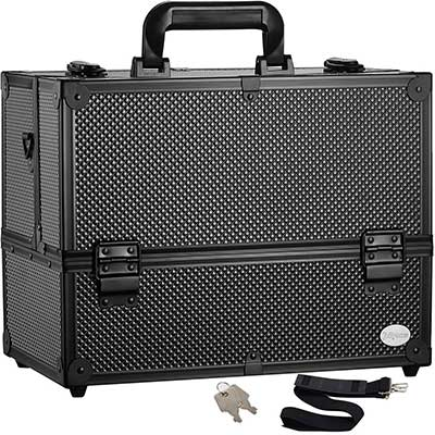 Makeup Train Case Professional Adjustable