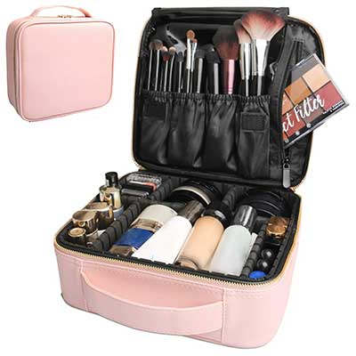 Bvser Travel Makeup Case, PU Leather
