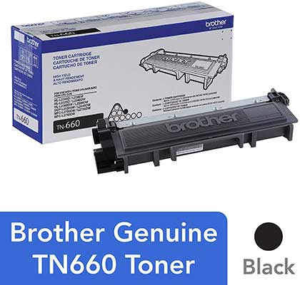 Brother TN660 Genuine High Yield Toner Cartridge