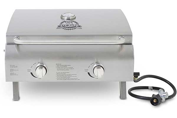 Pit Boss Grills Stainless Steel Two-Burner Portable Grill