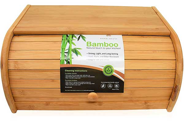 Natural Bamboo Roll Top Bread Box