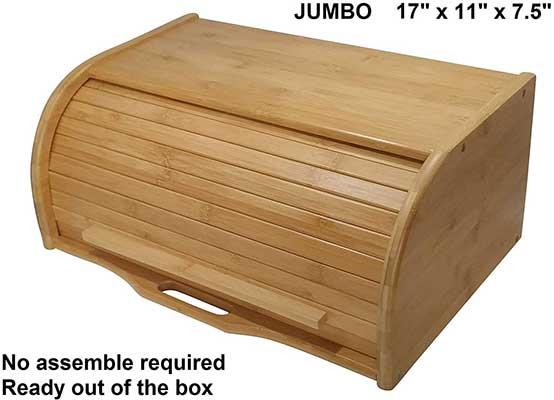 Large Bread Box Bread Basket Wooden Box