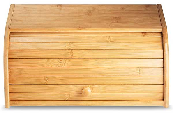 Klee Large Bamboo Bread Box, Roll Top