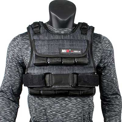miR Air Flow Weighted Vest with Zipper Option 20lbs