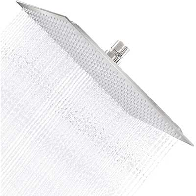 Derpas 16 Inch Square Rain Shower Head