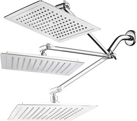 AquaSpa Giant 9-inch Diagonal Square Rain Shower Head