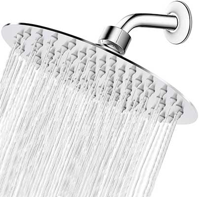 High-Pressure Shower Head, 8 Inch Rain Shower Head