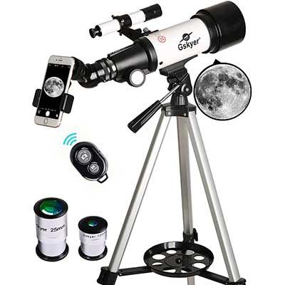 Gskyer Telescope, 70mm Aperture 400mm AZ Mount