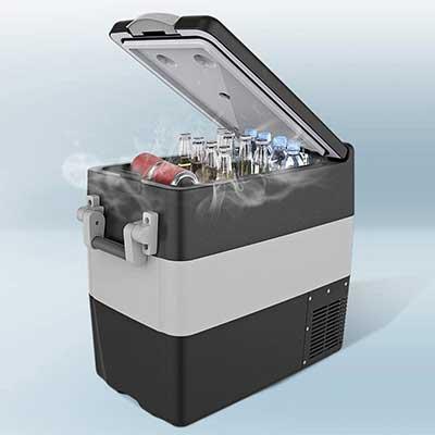 BougeRV 12V Car Freezer 53 Quart Portable Refrigerator Fridge